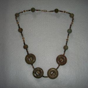 Jewelry - Polished Jasper Discs Multi Stone Artisan Necklace